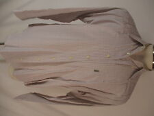 Barbour Mens White Tattersall Check Long Sleeve Cotton Shirt L