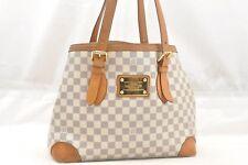 Auth Louis Vuitton Damier Azur Hampstead MM Shoulder Tote Bag N51206 LV 54497