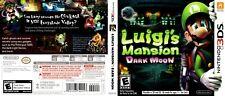 Luigi's Mansion: Dark Moon Nintendo 3 DS reproduction couverture art (pas de jeu, pas de boîte)