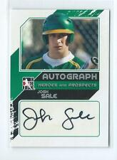 2011 ITG Heroes & Prospects Josh Sale Silver AUTO AUTOGRAPH RC