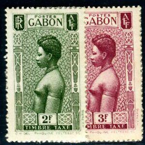 GABON PORTO 1932 Yvert TT 32-33 ungummiert (F4908