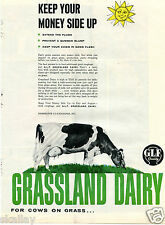 1959 Print Ad of GLF Grassland Dairy for cows on grass Keep your money side up