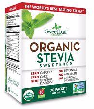 SweetLeaf Organic Stevia Sachets 70ct