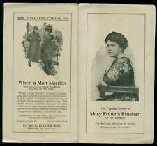 1910 Pittsburgh,PA - Boggs & Buhl Promotional Brochure for Mary Roberts Rinehart