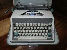 Vintage 1960's Olympia SM7 DeLuxe Typewriter & Hard Case Western Germany