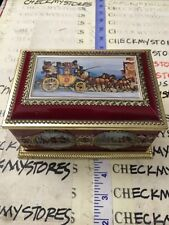 Vintage Klann Cookie TOFFEE CANDY Tin Carriage Horses Made in West Germany