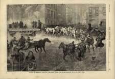 1877 STREET RAILWAY TRACK NEW YORK spalare la neve
