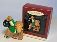 Hallmark Ornament It's A Strike Bowling Monkey Keepsake Christmas Tree VTG