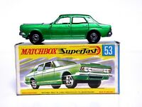Matchbox Lesney No.53c Ford Zodiac Mk.IV 'G2' Box (DARK METALLIC EMERALD GREEN)