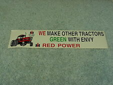 CASE IH INTERNATIONAL HARVESTER  RED POWER BUMPER STICKER