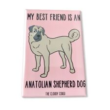 Anatolian Shepherd Dog Magnet Best Friend Cartoon Pet Art Gifts and Home Decor