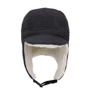 Winter Windproof Sports Cap Windproof Warmth Fleece with Ear Flaps Peaked Cap