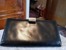 KENNETH COLE New York Women's Black Leather Wallet Organizer,Clutch Unique Latch