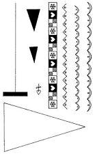 Non montés en Caoutchouc Timbres-Design un arbre - 5054