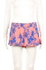 ELEMENT Floral Shorts Size Medium Blue Coral Pink Flower Elastic Waist Mini