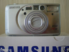 NEW SAMSUNG VEGA 290W QTZ DATE~PANORAMA 35MM FILM CAMERA~28-90MM MACRO LENS (B6)