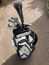 Full Set Of Beginners Mens Golf Clubs Powakaddy Bag Maxfli Ben Sayers Ram