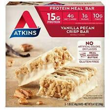 Atkins Protein Meal Bar, Vanilla Pecan Crisp, Keto Friendly