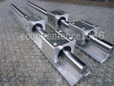 2 x SBR20-2500mm 20 MM FULLY SUPPORTED LINEAR RAIL SHAFT ROD with 4 SBR20UU