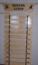 Personalized 15 Slat Karate Arts Belt Rack Display New Handmade