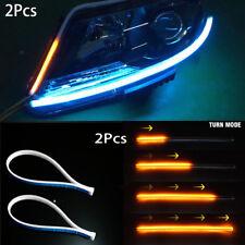 Ultra Thin 30cm Car Soft Tube LED Strip Daytime Running Light Turn Signal Lamp @