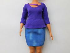Mattel Barbie Fashionistas curvy original Rock und Shirt NEU