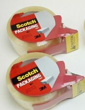 3m Scotch Clear Shipping Tape 188 X 82 Yds 2 Rolls Withdispenser New Sealed