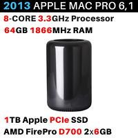 2013 Apple Mac Pro 3.3GHz 8-core / 64GB / 1TB / FirePro D700 2x 6GB - BTO/CTO