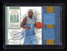 Ty Lawson 2009-10 National Treasures 2x Jersey Auto Rookie #/30! RARE Kings PG!