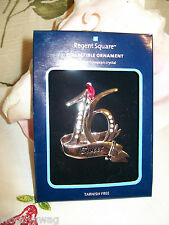 NOS Regent Square European Crystals Christmas Ornament Sweet 16 2010