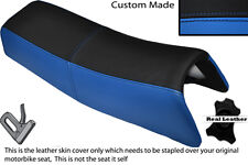 LIGHT BLUE & BLACK CUSTOM FITS HONDA MT 50 DUAL LEATHER SEAT COVER ONLY