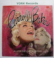 CARROLL BAKER - All For The Love Of A Song - Ex Con LP Record RCA RCALP 5012