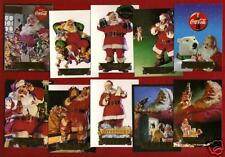 1994 COCA COLA Series 2 Sundblom SANTA 10 card foil set EXCELLENT