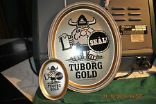 TUBORG GOLD BEER TRAY   LARGE VINTAGE METAL TRAY - FREE TIP TRAY with BUY it NOW