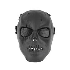 Skull Skeleton Army Airsoft Tactical Paintball Full Face Protection Mask Black