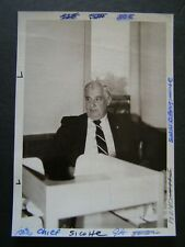 Glossy Press Photo 1981 Edward Sicotte Waltham Police Chief