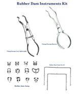 Dental Instrumente für Kofferdam Clamps forceps Brewer Klammern frames Set Endo