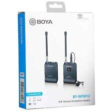 Boya By-wfm12 VHF Wireless Lavalier Microphone Microfono per DSLR Camera Phone