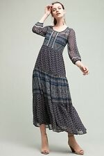 New Geometry Tiered Maxi Dress By Floreat Size 4 NWT