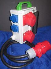 Stromverteiler Adapter 32A auf 2 x CEE 16 und 2x Schuko, ges. mit 8xB16A 1polig