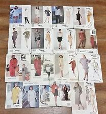Vintage Lot 15 Vogue Designer Patterns Lagerfield Ellis Kors Karan Nipon - Uncut