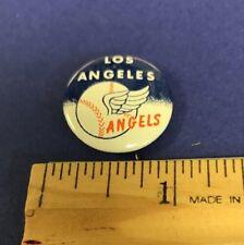 1969 Crane Potato Chips Los Angeles Angels Vintage Pin/Pinback Button OrangeBack