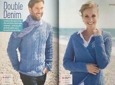 KNITTING PATTERN Mens Cable Textured Jumper Ladies Textured Cardigan Patons DK