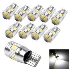 10Pc Cold White Canbus T10 5630 6SMD LED License Plate Light Bulb W5W 194 168