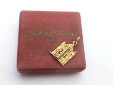 FAB & RARE 1930S BOXED CARTIER SOLID 14CT GOLD & ENAMEL 21 CLUB CHARM / PENDANT