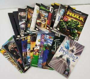 Nintendo GameCube Manuals Lot of 11 & Cover Case Art Lot of 10
