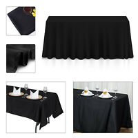 Black Tablecloth Table Cover Cloth Rectangular Christmas Decor party cloths