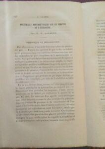 RECHERCHES PHOTOMÈTRIQUES SUR LE SPECTRE DE L'HYDROGÈNE. 1885.