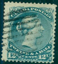 CANADA #28 12½¢ blue, used, big stamp, F/VF, Scott $115