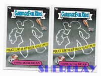 2X- 2012 Topps Garbage Pail Kids Brand New Series 1 #13b CRIME SCENE DEAN Cards
